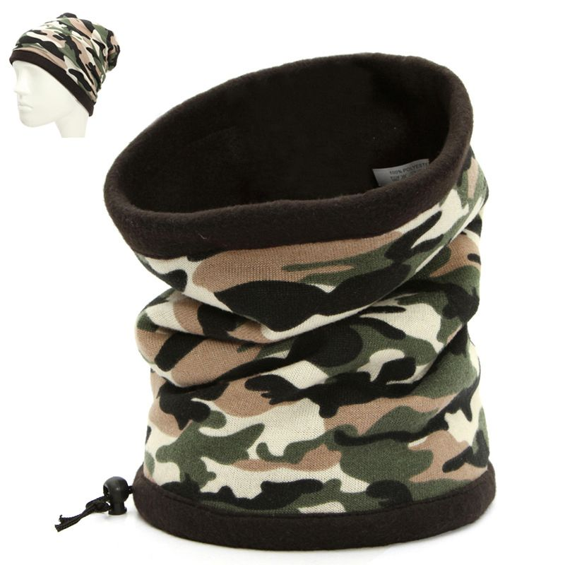 Outdoor Camouflage Army Thermal Fleece Balaclava Hat Hood Ski Bicycle Warm  Neck Face Mask Hat Winter Motorcycle Helmet Cap                Click on the  pin ... 9c83a8d891a1