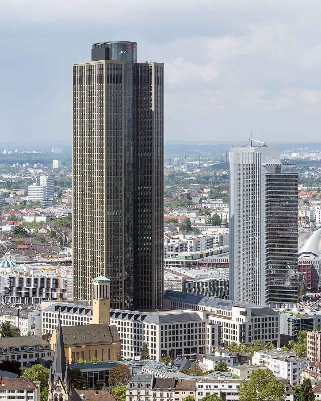 Frankfurt Am MainTower 185Ansicht vom DeutscheBank