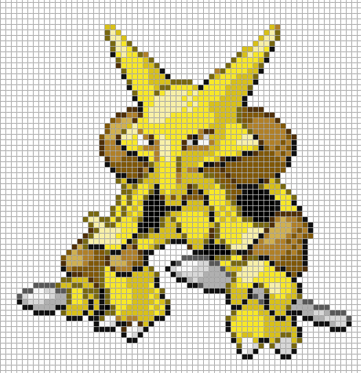 Alakazam By Hama Girl Pokemon Minecraft Art Minecraft