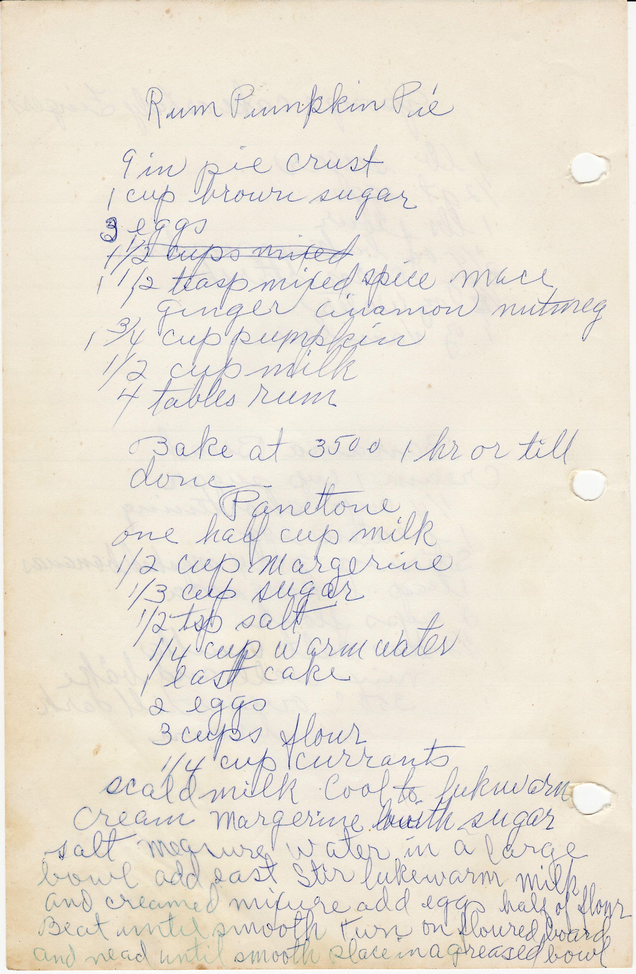 Handwritten recipe for pantetone, Italian Christmas bread | Italian ...