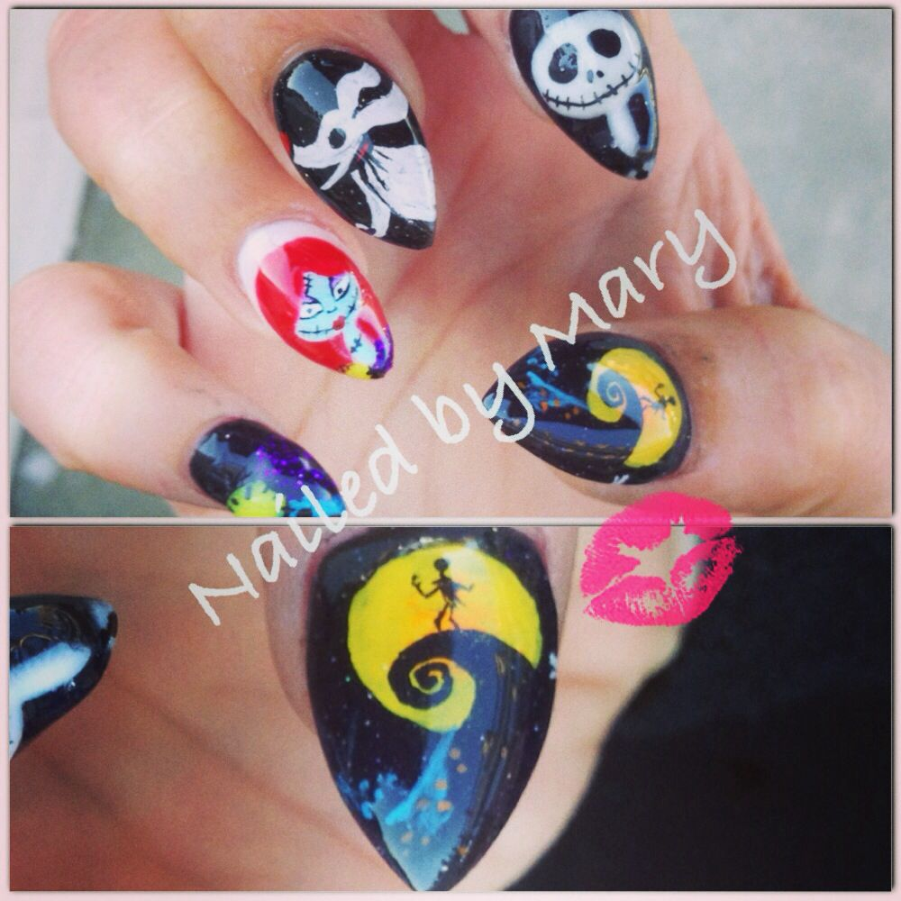The nightmare before Christmas. Stiletto nails too. | Nailed by Mary ...