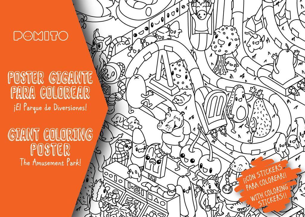 Poster Libro Gigante para pintar o colorear | vinilos | Pinterest