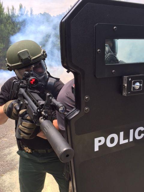 swat ballistic shield training with venture ballistics