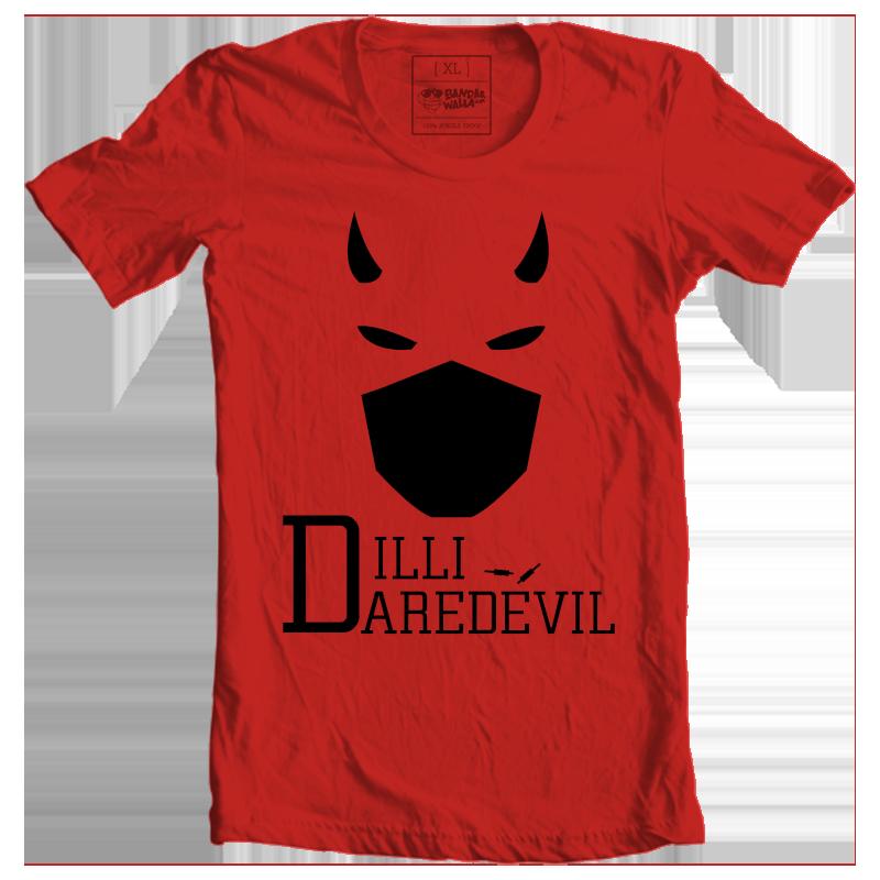 IPL Delhi Daredevil Fan Tee delhi cricket daredevil