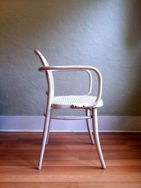 VIntage Armchair Thonet Prague 811 Cane Bentwood. Perfection.