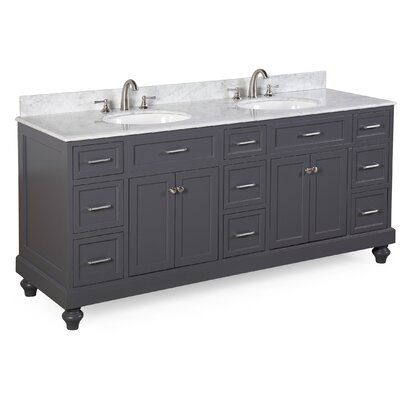 Best Kitchen Bath Collection Amelia 72 Double Bathroom Vanity 400 x 300