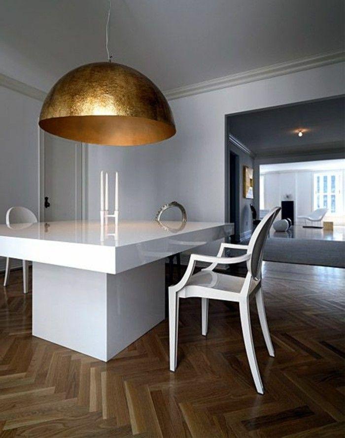 Milles conseils comment choisir un luminaire de cuisine! Salons - cuisine verte et blanche