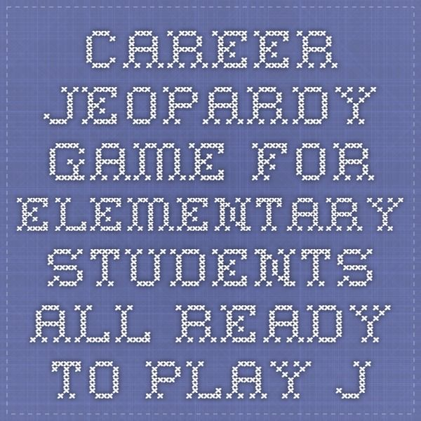 graphic regarding Game of Life Career Cards Printable titled Profession Jeopardy Activity for Basic Pupils - All geared up towards
