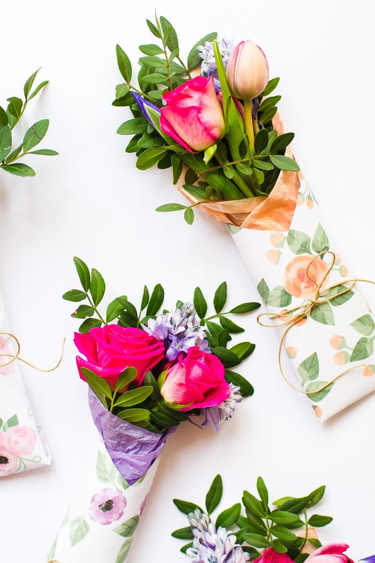 3 Mothers Day Gift Free Printable Flower Wraps Flower Wrap