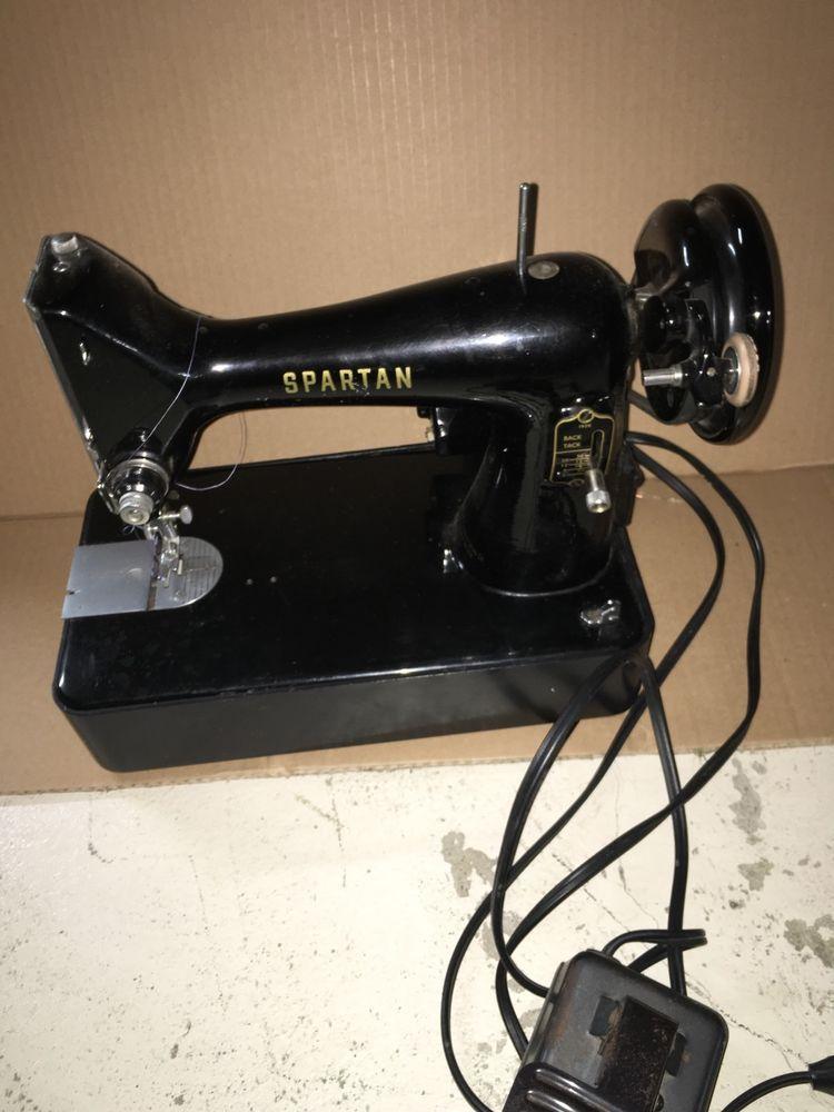 Vintage Antique Electric Singer Spartan Sewing Machine 40K Great Awesome 1960 Singer Spartan Sewing Machine Model 192k
