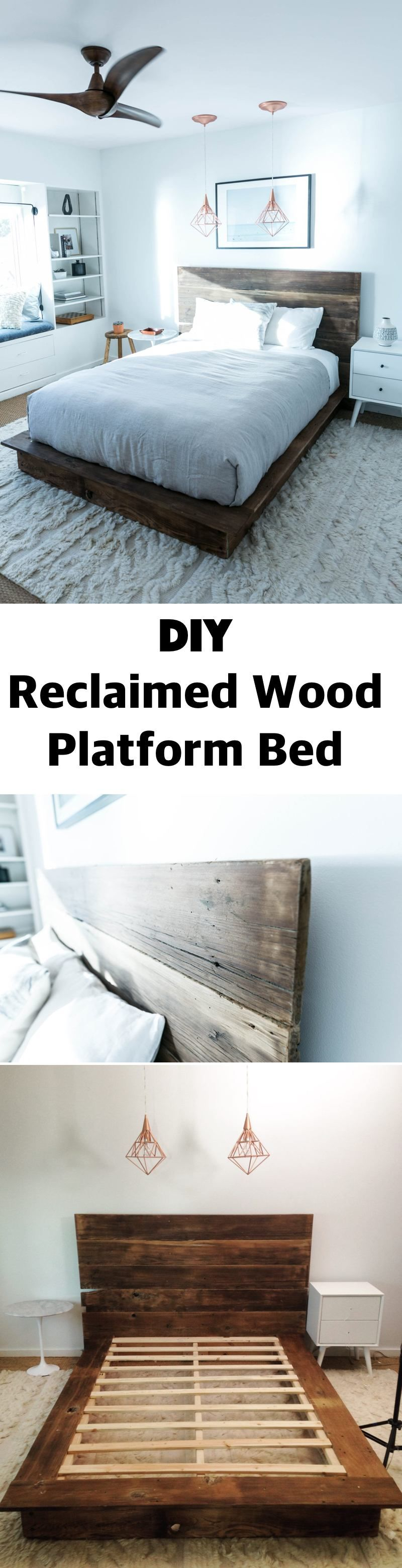 25 Easy DIY Bed Frame Projects to Upgrade Your Bedroom | Wood ...
