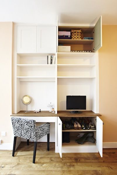Fitted Alcove Dresser with Storage | Alcove storage ...