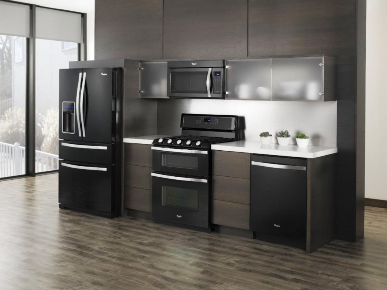 Lovely Kitchen Cabinet Color Ideas With Black Appliances Part - 9: Gorgeous Kitchens With Black Appliances Design And Ideas