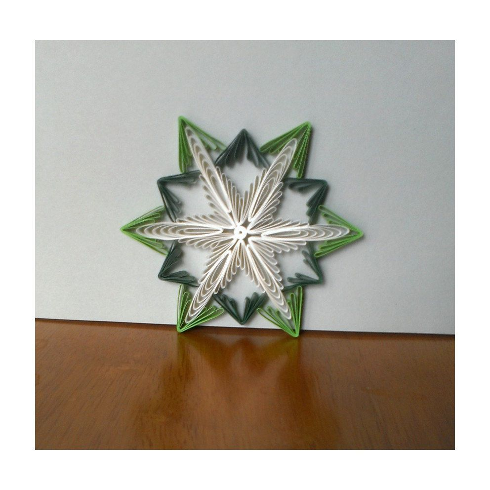 Paper Quilling tutorial, ornament pattern and template, DIY start ...