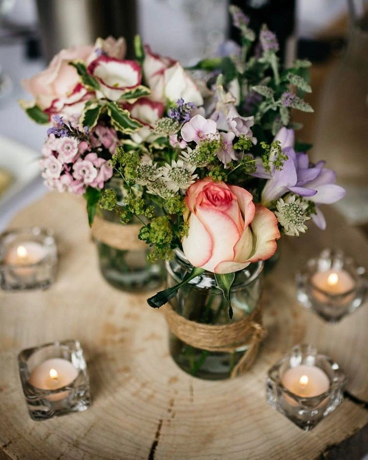 Jenny Macare: Rustic Centerpieces For Wedding Reception