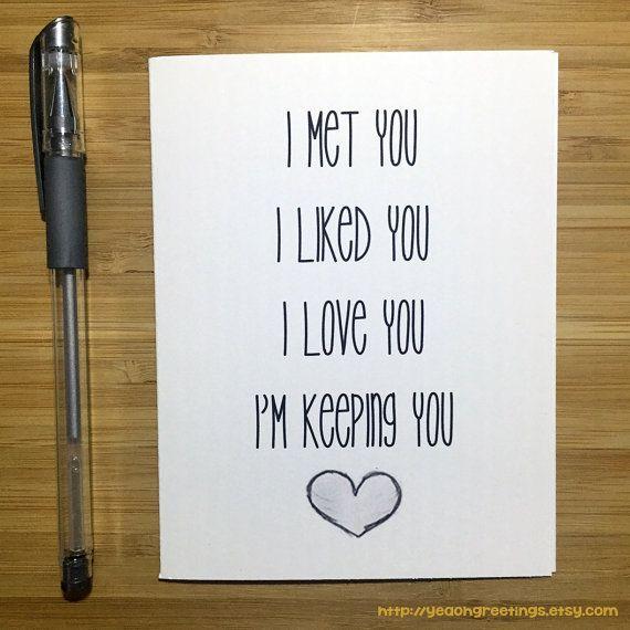 Cute Love Card Anniversary Card Love Greeting Cards Greeting
