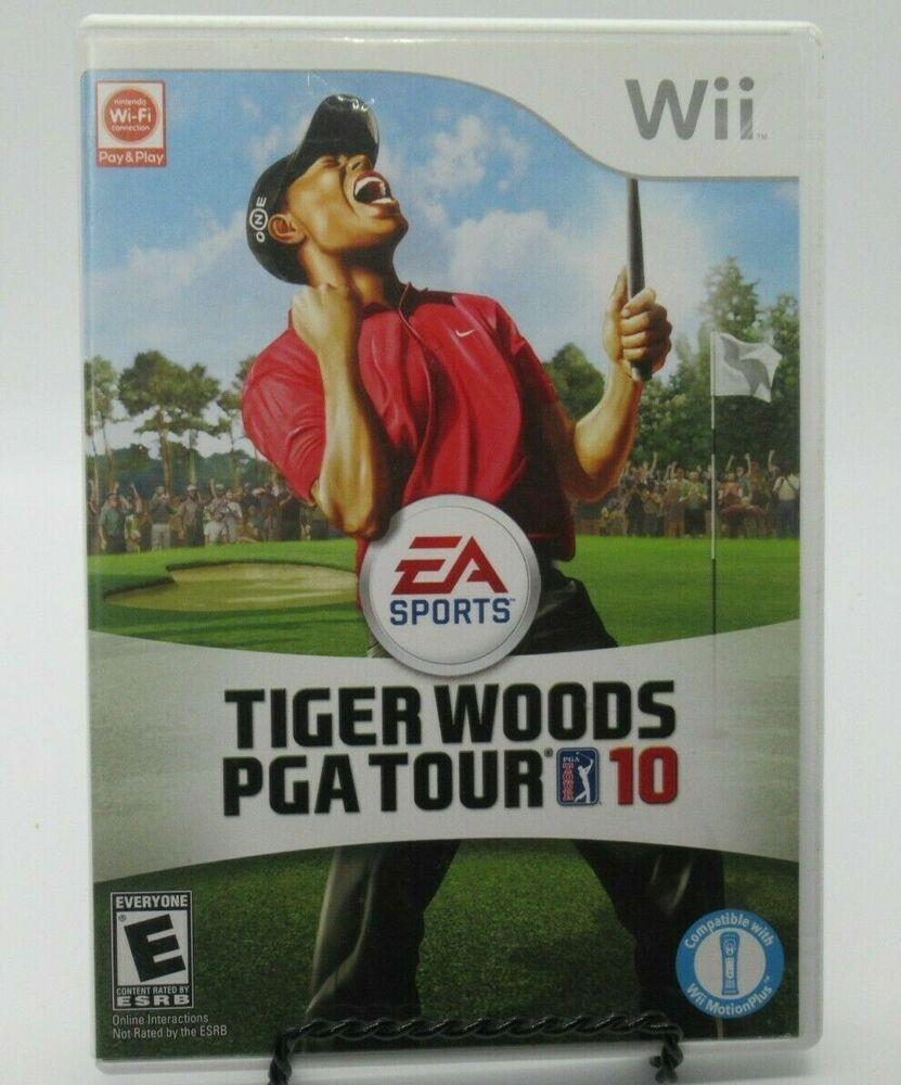 TIGER WOODS PGA TOUR 10 GAME FOR NINTENDO Wii, GAME DISC