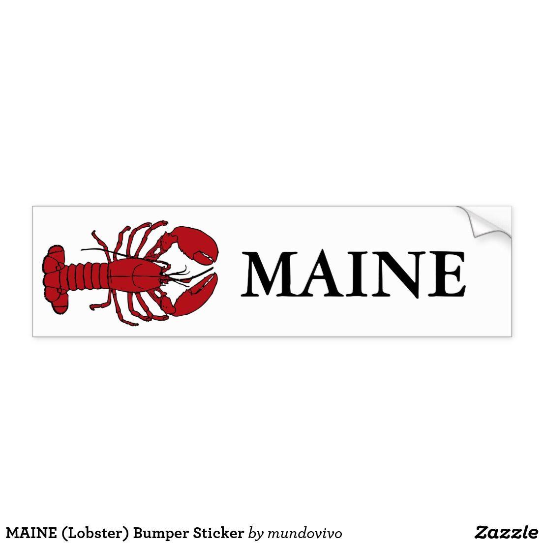 Maine Lobster Bumper Sticker Zazzle Com Bumper Stickers Maine Lobster Bumpers [ 1106 x 1106 Pixel ]