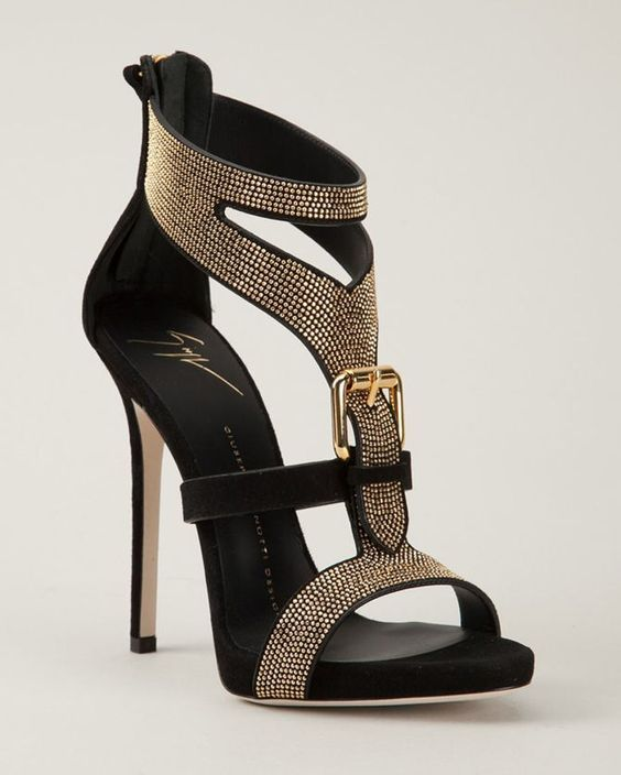 101 Stunning High Heel Shoes From Pinterest Studded Sandals Shoes Heels