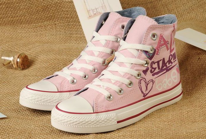 Pink Lady Gaga Converse Graffiti Printed All Star High Tops Women Girls  Chuck Taylor Sneakers  converse  shoes 3f7e12432