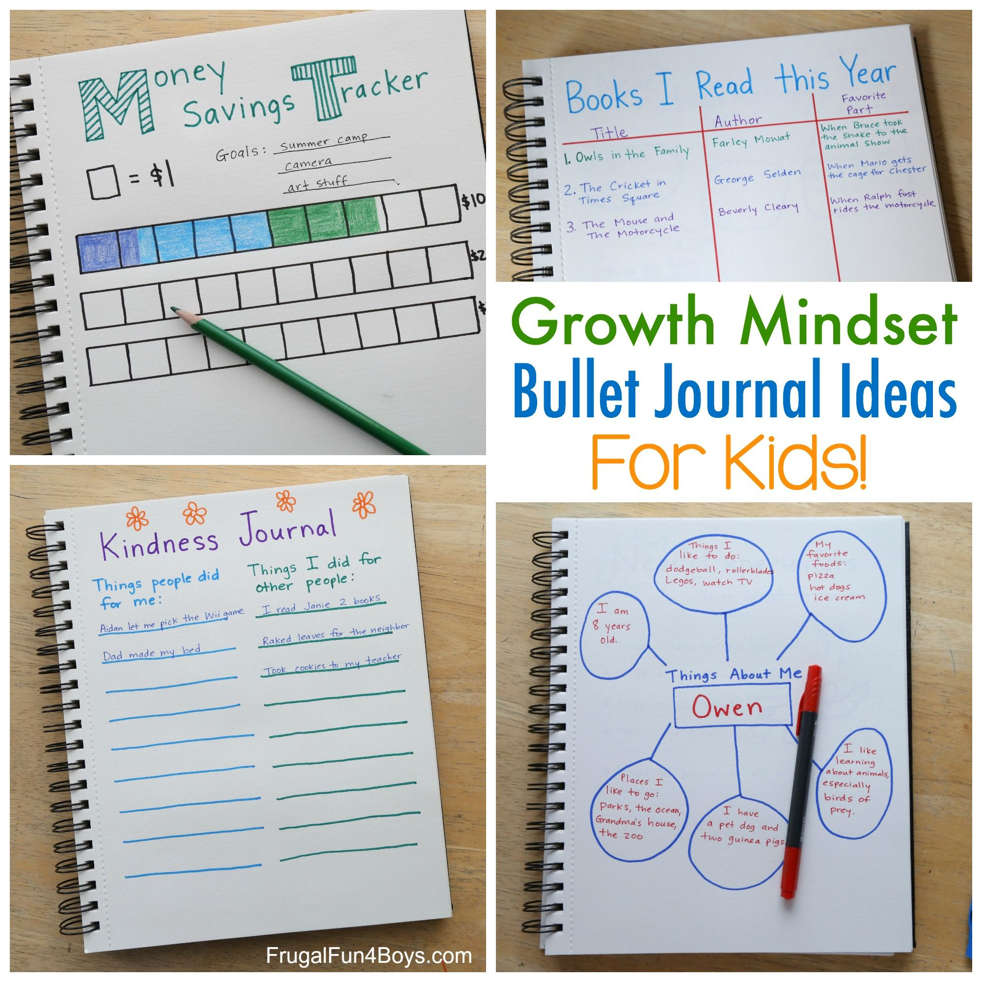 Growth Mindset Bullet Journal Ideas For Kids
