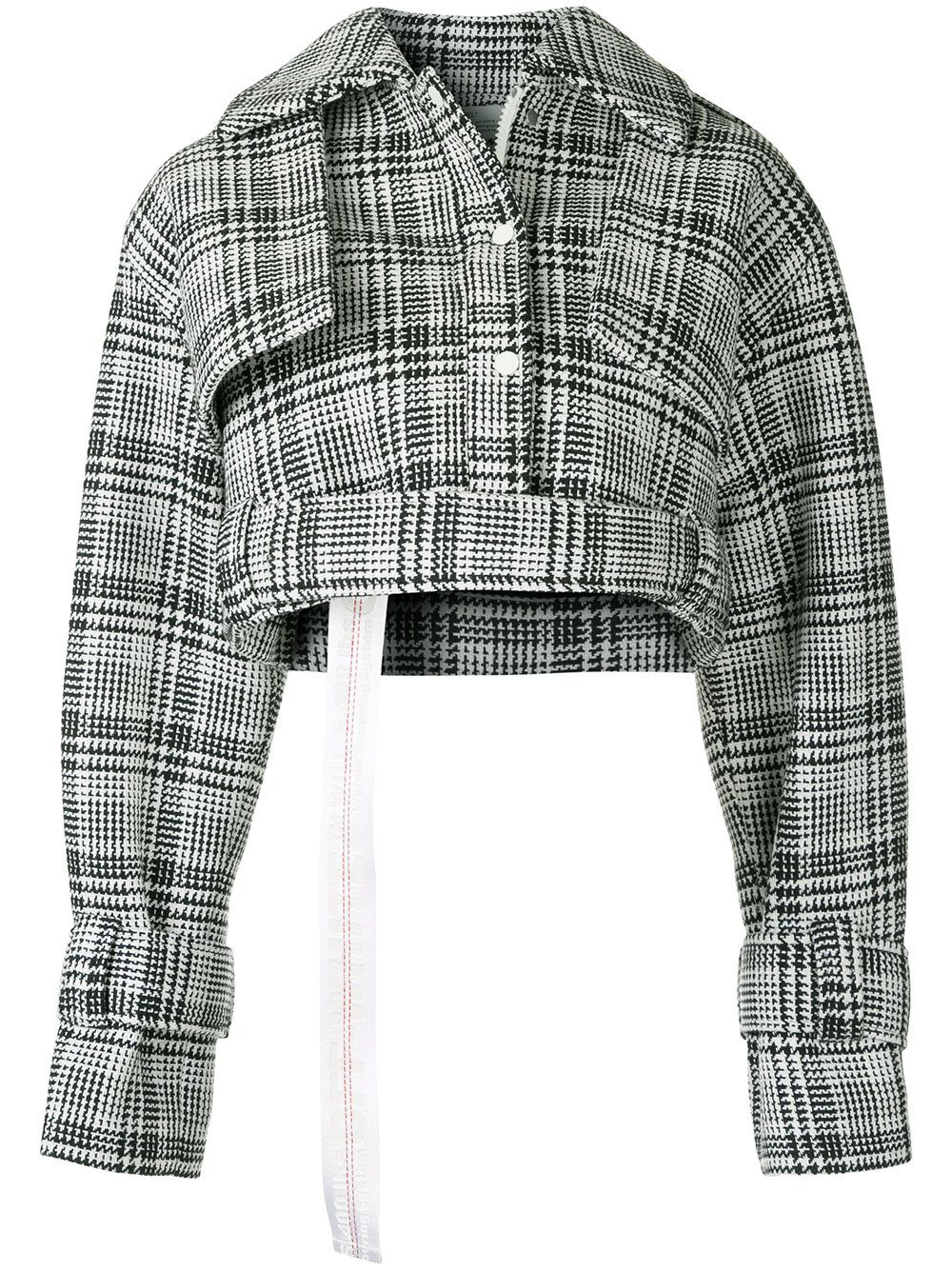 c1192abfd Off-White houndstooth check cropped jacket | Fashion in 2019 ...