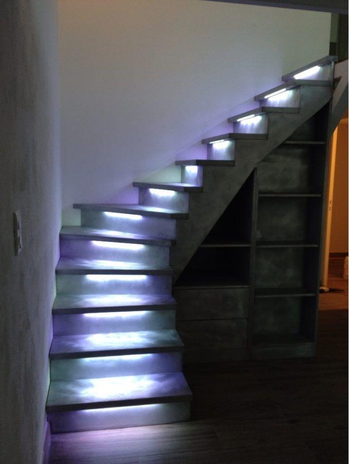 Illuminare le scale con le luci a led ecco 20 idee design per ispirarvi home sweet home - Luci per scale ...