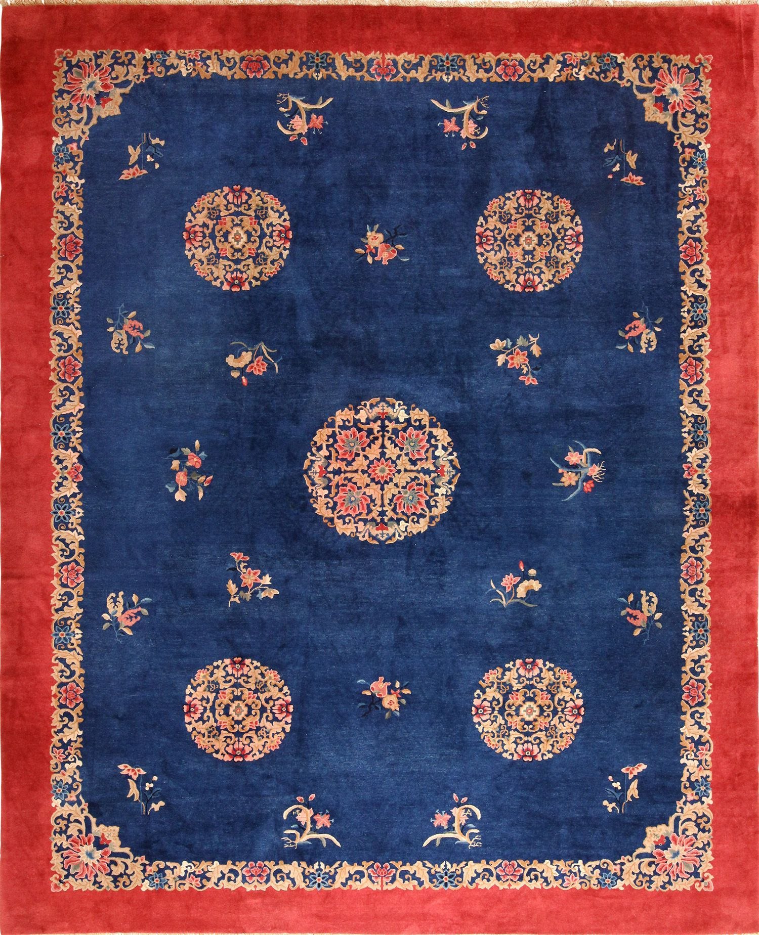 Blue And White Chinese Rugs: Beautiful Antique Blue Chinese Rug 49243 By Nazmiyal