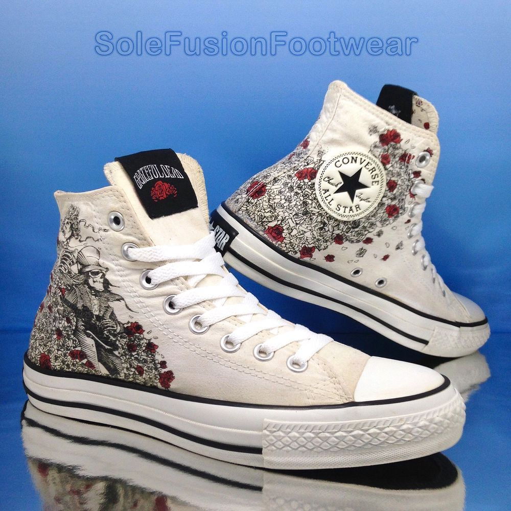 Converse All Star Chucks UE 375 UK 5 Ramones OX NERO LIMITED EDITION NUOVO