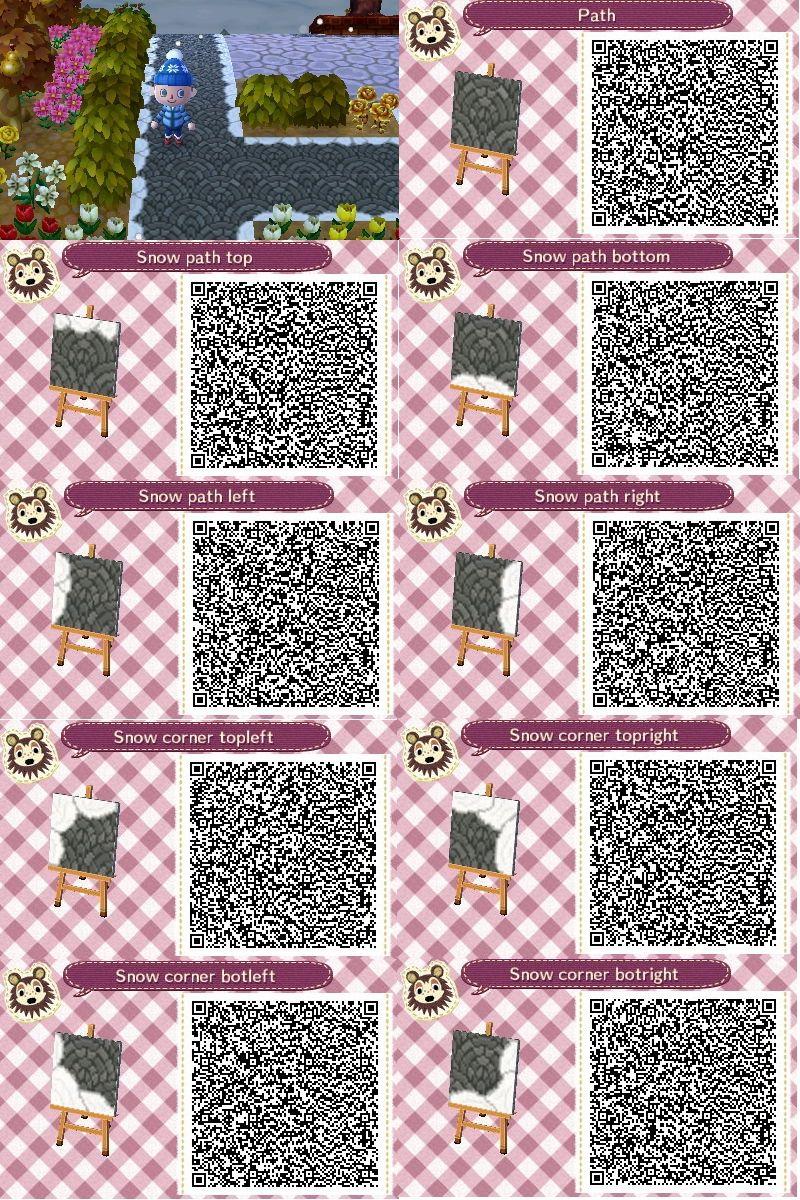 Snowy Brick Path Animal Crossing Community In Stone Path Qr
