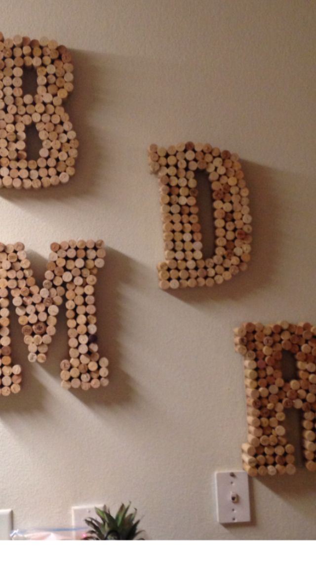 Wine cork letters for daughters college roommates