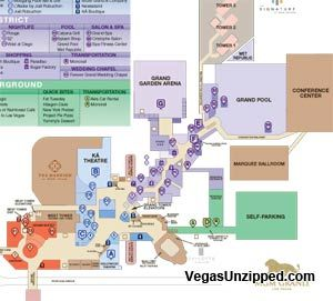 Las Vegas Hotel And Casino Property Maps List Travel Ideas