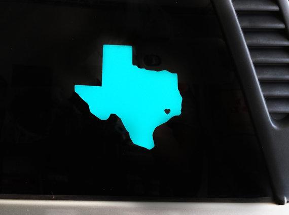 Texas Love Vinyl Car Decal Houston Dallas Austin San Antonio - Vinyl decals houston tx