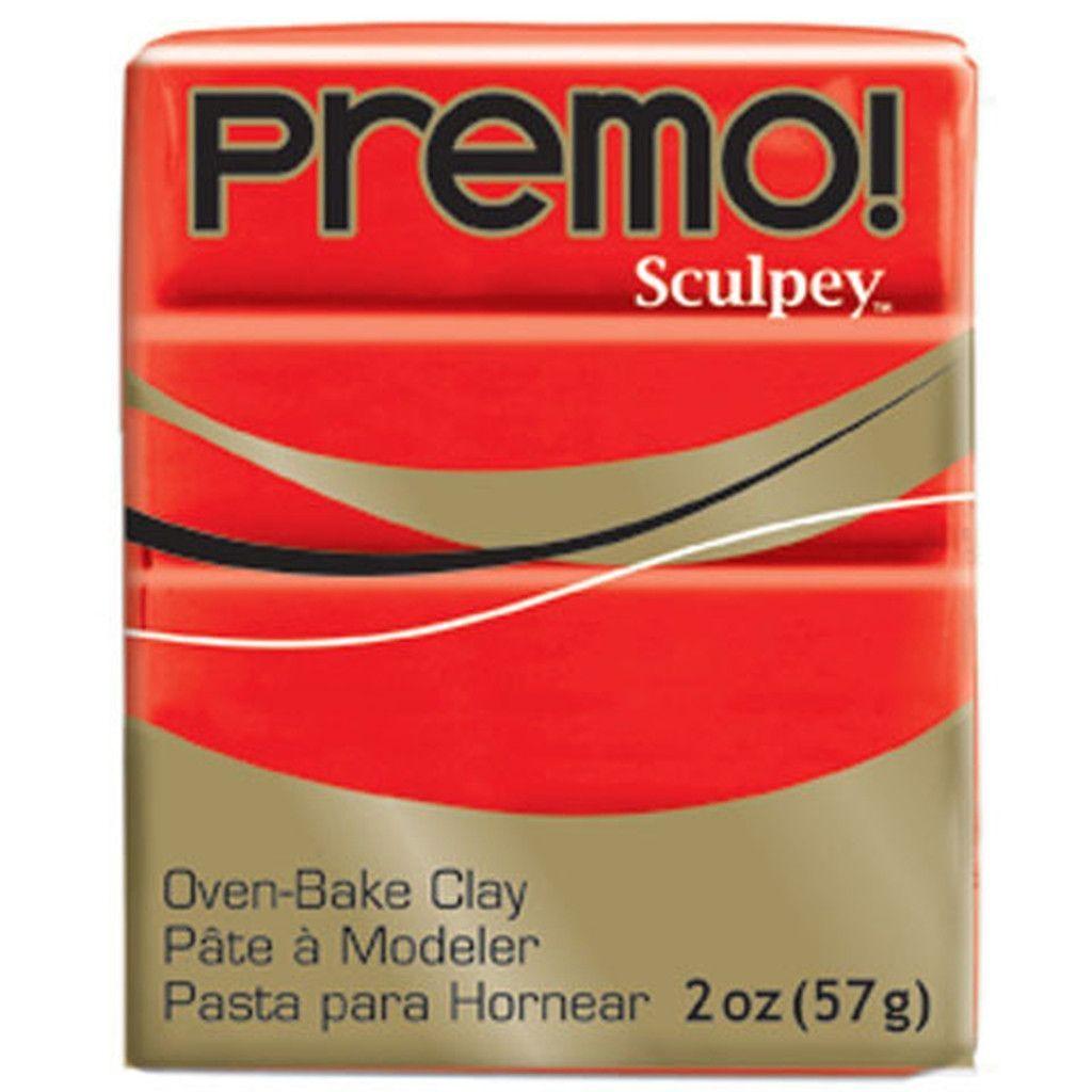 Premo! Sculpey® Oven Bake Clay - Cadmium Red - 2 oz