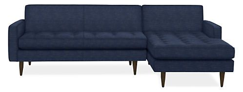 Reese Sofa With Chaise   Modern Sectionals   Modern Living Room Furniture    Room U0026 Board