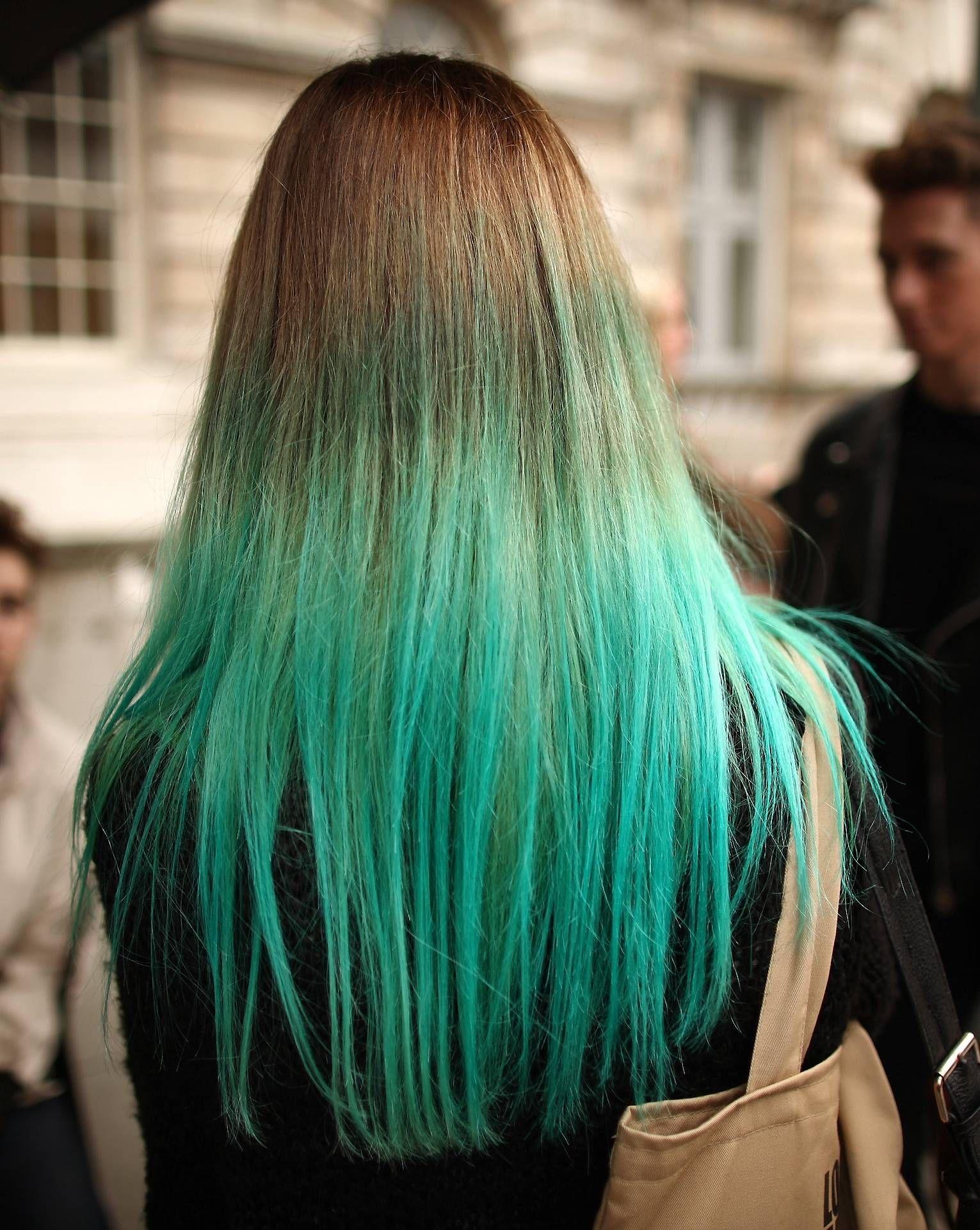 Green Light Blue Hair