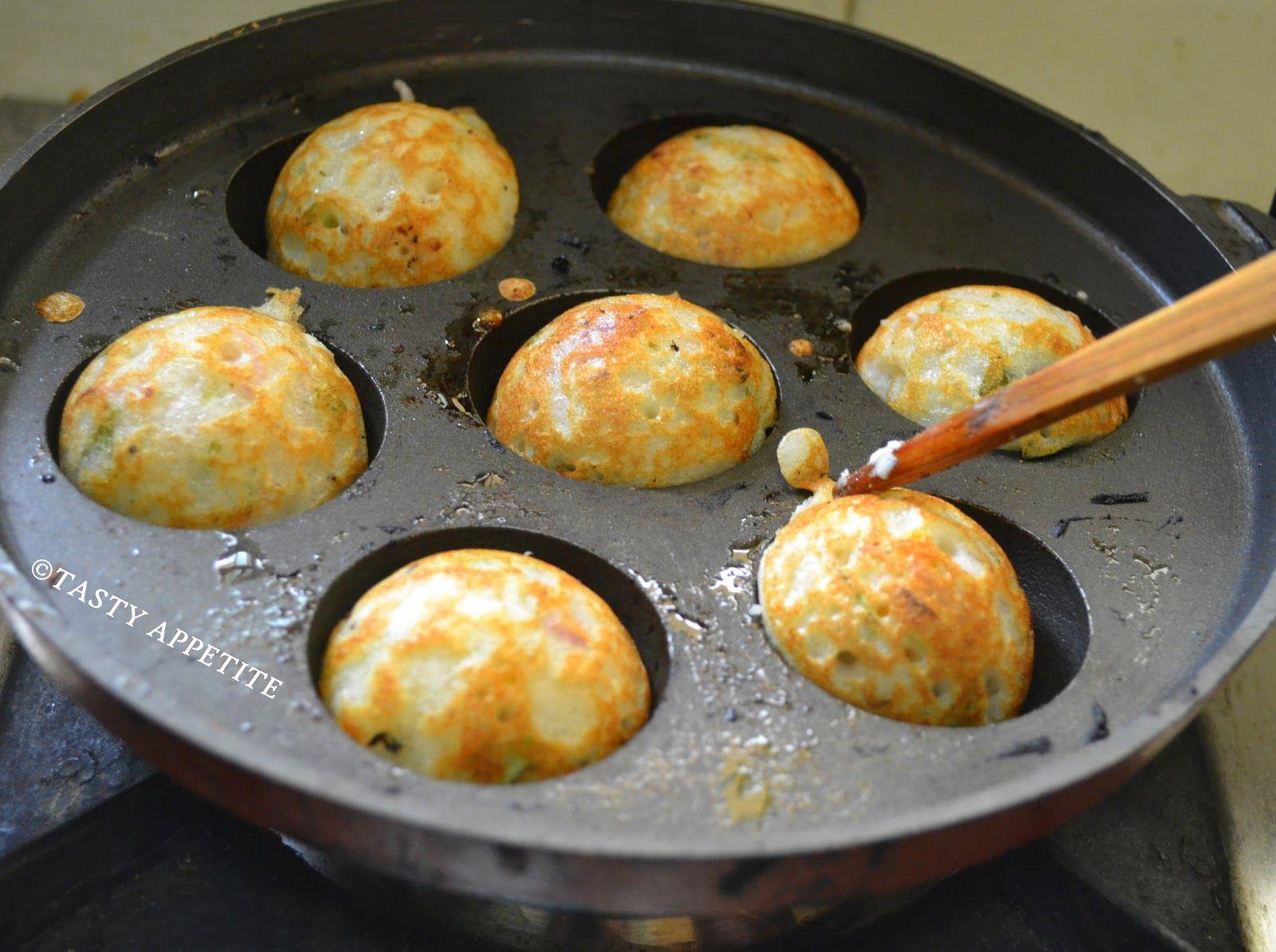 Tasty Appetite How to make Kuzhi Paniyaram / Hot & Sweet