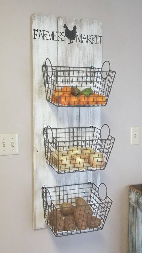 Photo of Farmers Market Basket Wall decor Produce farmers market – do it yourself decoration