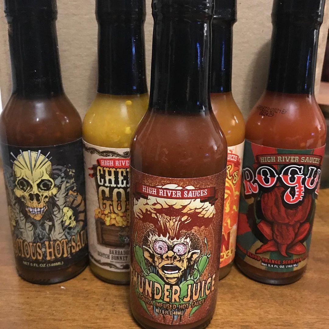 Got sauce? highriversauces hotsauce peppers Stuffed
