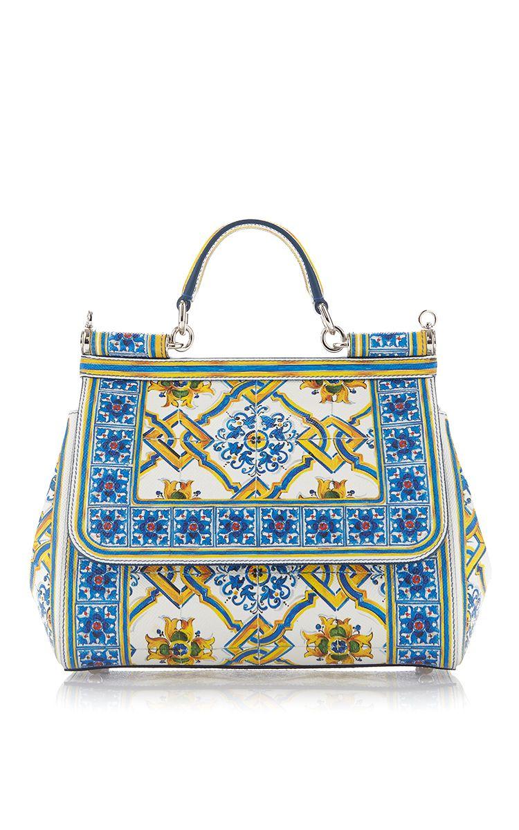 b0a0e99a17 Calf Leather Maiolica Tile Bag by DOLCE   GABBANA Now Available on Moda  Operandi