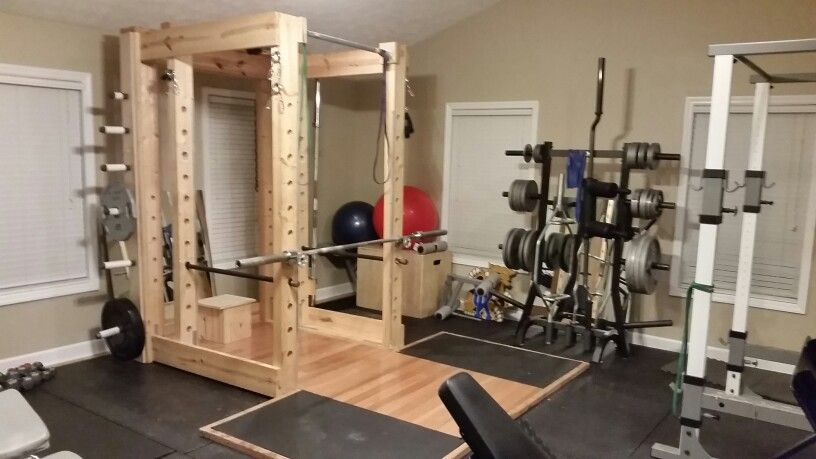squat rack and platform basement pinterest fitnessraum selber bauen und bungen. Black Bedroom Furniture Sets. Home Design Ideas