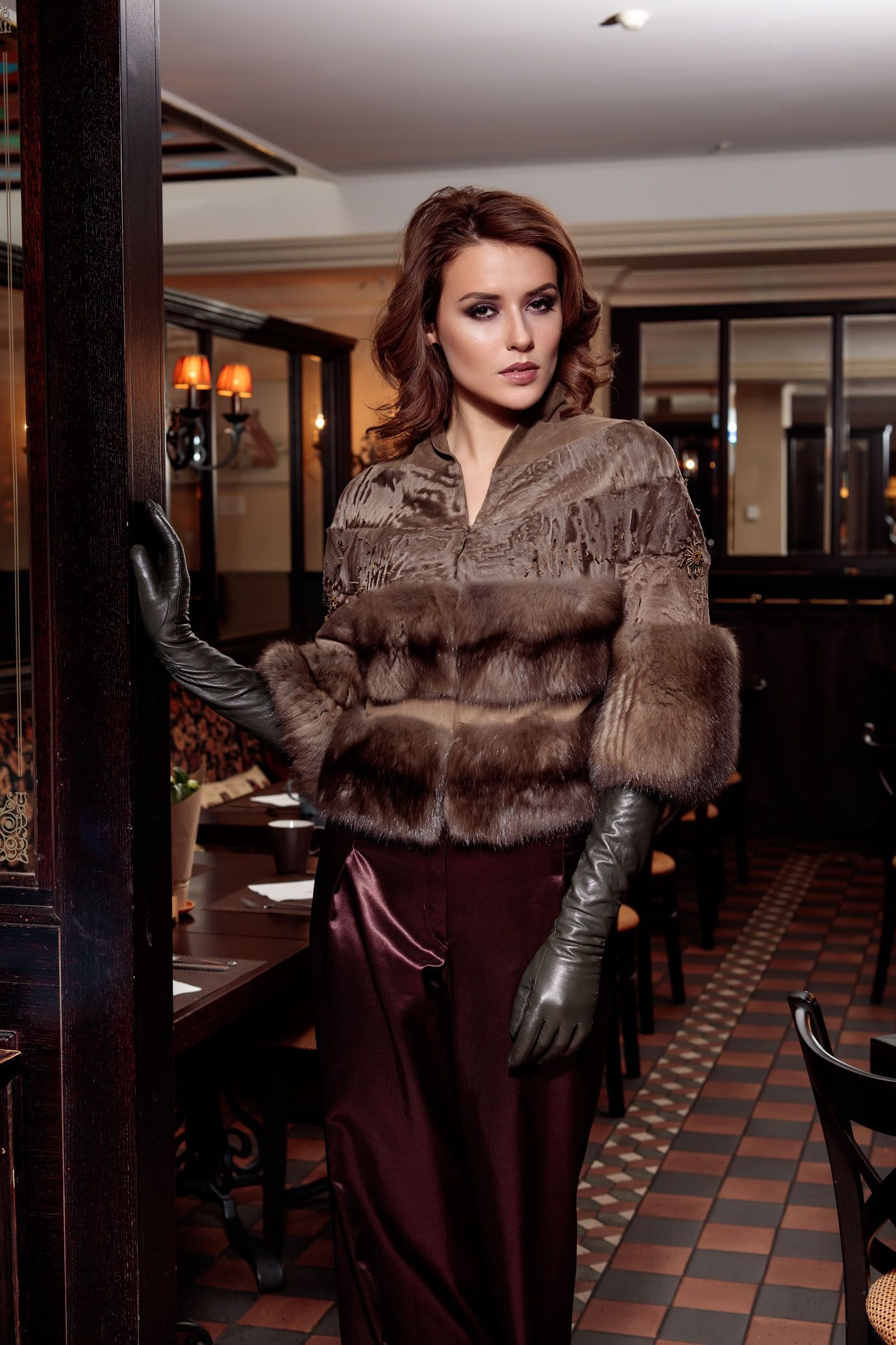 fur and gloves | gloves | Leather gloves, Black leather ...