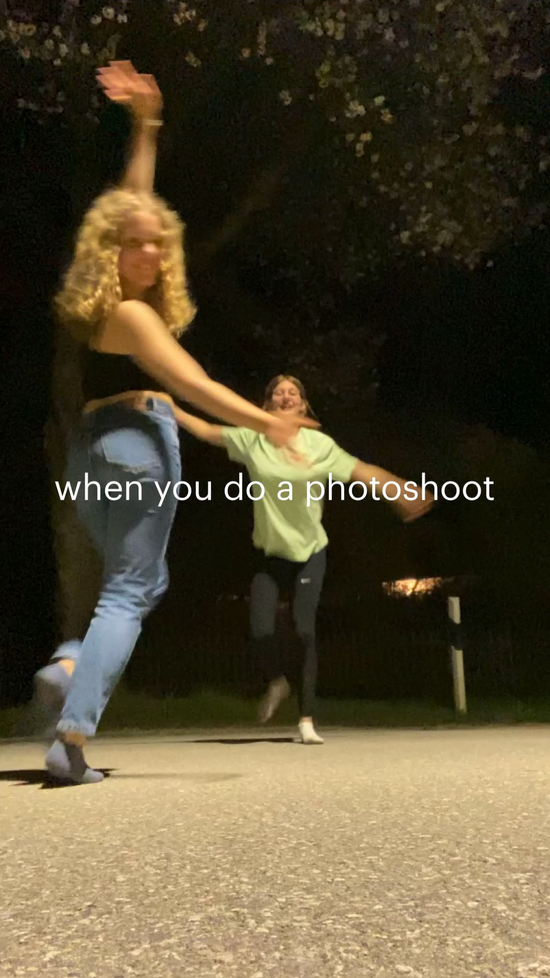 photoshoot at night