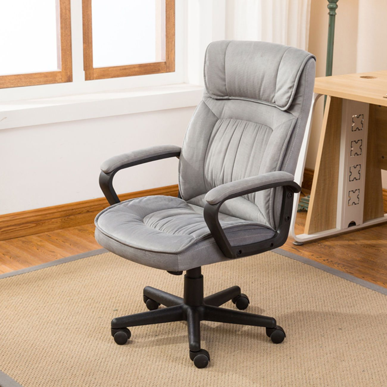 Executive office chair lumber support computer desk padded