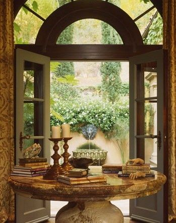 Table tuscan entry in  mediterranean villa also best for the home images on pinterest diy ideas rh