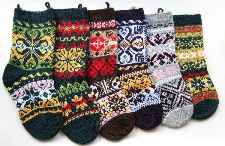 Norwegian Christmas Stockings Knitting Pattern Knitting Christmas