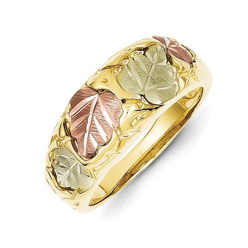 Qgold Com 10k Tri Color Black Hills Gold Ladies Wedding Band Black Hills Gold Jewelry Black Hills Gold Black Hills Gold Rings