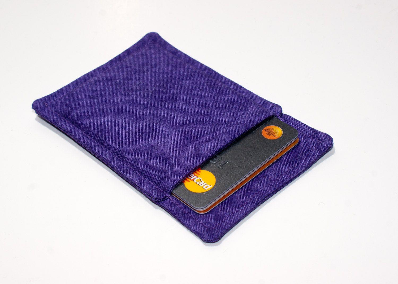 New to Chockrosa on Etsy: Purple thin wallet - Minimalist wallet ...