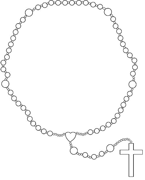 Rosary Clip Art Catholic Coloring Coloring Pages Rosary Drawing