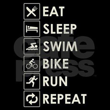 Swim Bike Run Repeat Women s Dark Pajamas Swim Bike Run Repeat Pajamas  f66ffb9c3